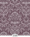Wallpaper - Annabelle Damask Purple Plum