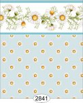 Wallpaper - Daisy Blue Border - Dot