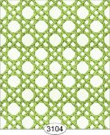 Wallpaper - Cane Lattice Green Lime