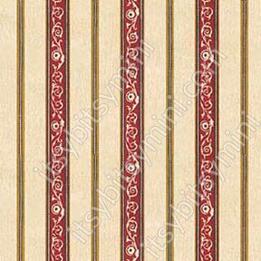 Wallpaper - French Kitchen - Red Stripe NO BORDER - Click Image to Close