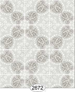 Wallpaper Rose Hill Tile Grey - Click Image to Close