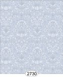 Wallpaper - Annabelle Mini Damask Blue Serenity