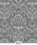 Wallpaper - Annabelle Damask Grey Dark