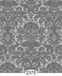 Wallpaper - Annabelle Reverse Damask Grey Dark