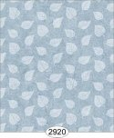 Wallpaper Birch Leaf Silhouette Blue