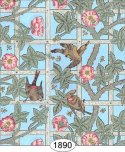 Wallpaper - Victorian Trellis - Blue