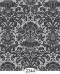 Wallpaper - Annabelle Reverse Damask Black