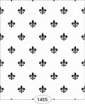 Wallpaper - Princess - Fleur de Lis - Black on White