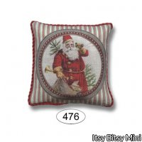 Pillow - Christmas Santa with Stripe - Square