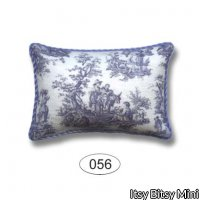 Pillow - Farm Toile - Blue - Rectangle