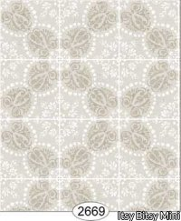 Wallpaper Rose Hill Tile Grey Beige