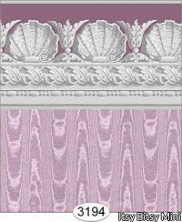 Wallpaper Jolie Moire Purple Plum