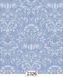 Wallpaper - Annabelle Damask Blue Serenity