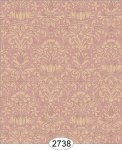 Wallpaper - Annabelle Mini Damask Red with Cream