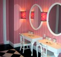 Wallpaper - Elle - Pink Mauve - Stripe