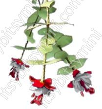Flower Kit Fuchsia Red and White - Click Image to Close