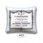 Pillow - Shabby Chic - White - French Cologne Ad