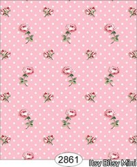 Wallpaper - Cottage Chic - Toss on Pink