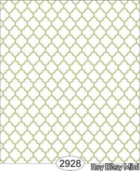 Wallpaper Geometric Trellis Green Spring