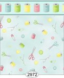 Wallpaper Sew Perfect Notions Blue