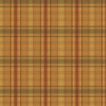 Wallpaper - Cabin Plaid Gold Brown Green