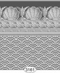 Wallpaper Jolie Shell Dark Gray