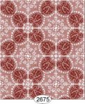 Wallpaper Rose Hill Tile Red
