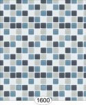 Wallpaper - Mosaic Tile - Grey and Blue