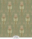 Wallpaper - Tulip Tapestry - Green 5:Cover