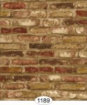 Wallpaper - Tumbled Brick - Brown
