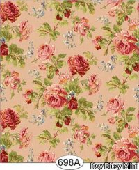 Wallpaper - Rose Garden - Pink Floral