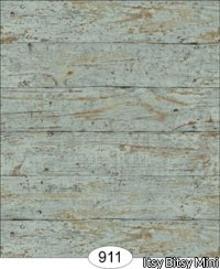 Wallpaper - Weathered Wood - Blue