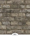 Wallpaper - Weathered Brick - Black