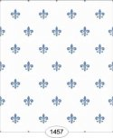 Wallpaper - Princess - Fleur de Lis - Blue on White