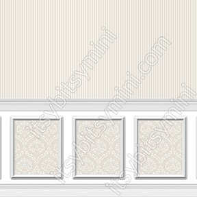 Wallpaper - Ethereal Wainscot Beige Wide - Click Image to Close