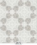 Wallpaper Rose Hill Tile Grey
