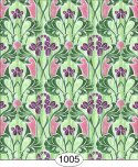 Wallpaper - Art Nouveau Closed Tulips