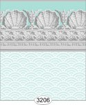 Wallpaper Jolie Shell Aqua Blue