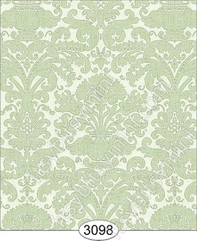 Wallpaper - Annabelle Reverse Damask Green Mint - Click Image to Close