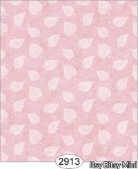 Wallpaper Birch Leaf Silhouette Pink Rose