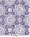 Wallpaper Rose Hill Tile Purple