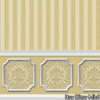 Wallpaper - Annabelle Wainscot Mural Brown Cafe Latte