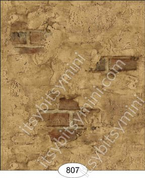Wallpaper - Weathered Plaster - Brown - Click Image to Close