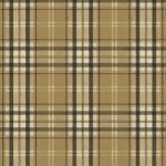 Wallpaper - Bow Wow - Plaid Beige NO BORDER