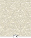 Wallpaper - Annabelle Mini Damask Brown Mustard