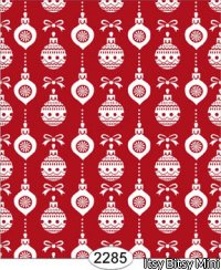 Wallpaper - Christmas Ornaments - Red