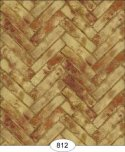 Wallpaper - Herringbone Brick - Red