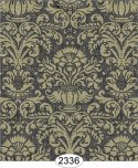 Wallpaper - Annabelle Damask Black with Cream