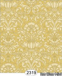 Wallpaper - Annabelle Damask Yellow Gold
