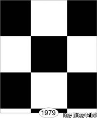 Wallpaper - Tile - Black and White Check - 0.75 inch